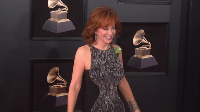 Anthony 'Skeeter' Lasuzzo and Reba McEntire at 60th Grammy Awards Celebration Party at Madison Square Garden on January 28 2018 in New York City