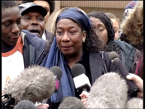 paul taylor and michael barton sentenced to life in prison itn ms gee walker along from court with others lms gee walker and family members approach... - gee walker stock videos & royalty-free footage