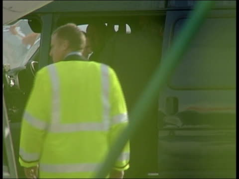 police arrest suspects england liverpool john lennon airport paul taylor 20 and michael barton 17 escorted to police van following their arrest on... - huyton murders stock videos & royalty-free footage