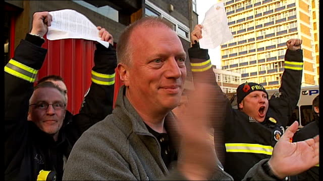 INT Anthony Wells interview SOT Firefighters picketing fire stations INT Paul Embery interview SOT Been a shift in the employers position Boris...