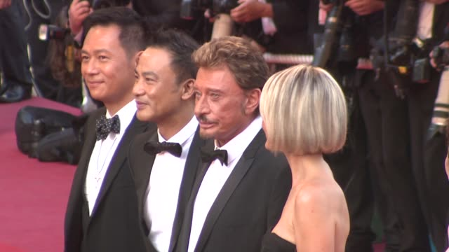vidéos et rushes de anthony wong simon yam johnny hallyday laeticia hallyday at the cannes film festival 2009 vengeance steps at cannes - igname