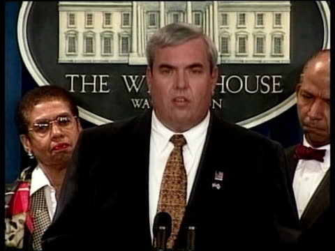 anthrax outbreak spreading pool john potter press conference sot these two postal employees join a list of civil servants who have died over past two... - reuters stock videos & royalty-free footage