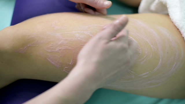 anti cellulite massage - massager stock videos and b-roll footage