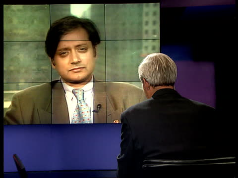 Anti independence violence 2WAY STUDIO/NEW YORK USA New York United Nations INT Shashi Tharoor interview SOT There is anxiety all round/ are risks to...
