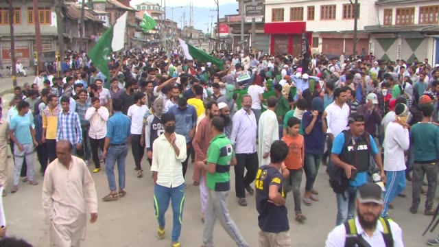 anti india protest in srinagar, the summer capital of indian administered kashmir, india, on september 2, 2016. anti india protests continue in... - confrontation stock videos & royalty-free footage