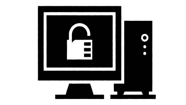 anti malware software linie zeichnung & tinte splatter animation mit alpha - computerfehler stock-videos und b-roll-filmmaterial