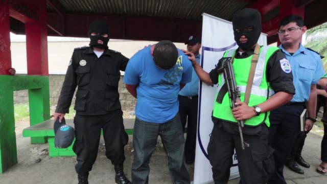 anti narcotics operation on the managua masaya road in nicaragua leads to the arrest of two people travelling on a bus from costa rica carrying drugs... - managua stock videos & royalty-free footage