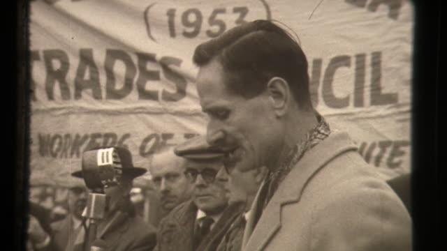 anti polaris rocket protests in london - cold war stock videos & royalty-free footage