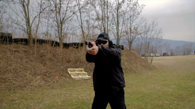 anti terrorist holding a gun,training - bodyguard stock videos & royalty-free footage