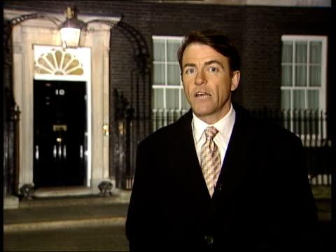 anti war statements brit awards / archbishop of canterbury london downing street ext/night i/c - カンタベリー大主教点の映像素材/bロール