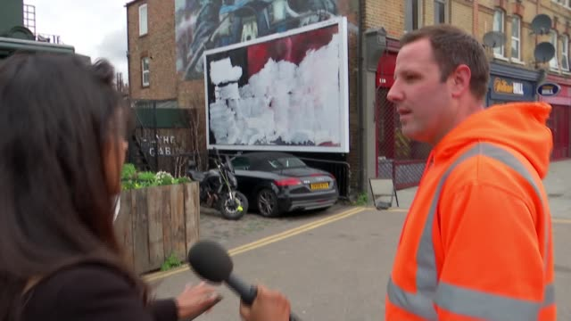 antiabortion posters targeting stella creasy appear in walthamstow england london wood street ext vox pop sot sign 'clear channel' various shots of... - poster stock videos & royalty-free footage