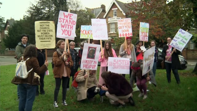 antiabortion protests in ealing could be banned t24101523 / tx group of prochoice protesters with placards prochoice protesters with placards end lib - abortion stock videos and b-roll footage