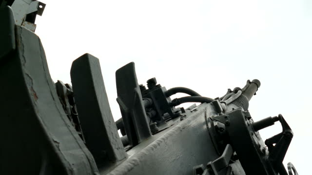 anti-aircraft gun of old military ship - cold war stock videos & royalty-free footage