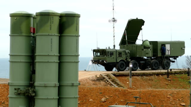 anti-aircraft missile system with guidance system on the coast