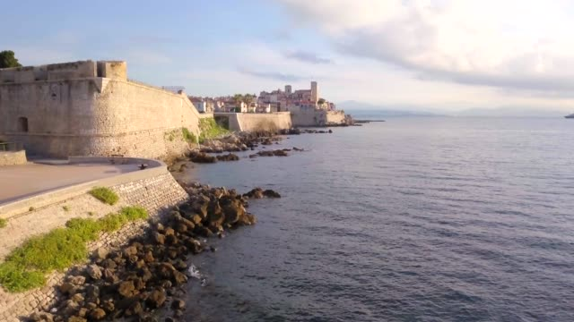 antibes, alpes-maritimes, provence-alpes-cote d'azur, france, mediterranean, europe - cote d'azur stock videos & royalty-free footage