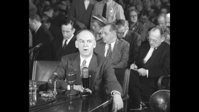 anti-communist/former communist louis budenz testifies before the tydings committee; he references the daily worker, james s. allen, the pacific... - north pacific stock videos & royalty-free footage