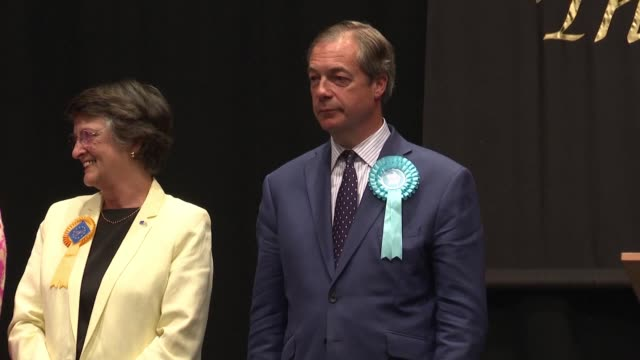 antieu populist nigel farage says he wants to take responsibility for brexit after his party triumphed on sunday and the ruling conservatives endured... - nigel farage stock videos & royalty-free footage