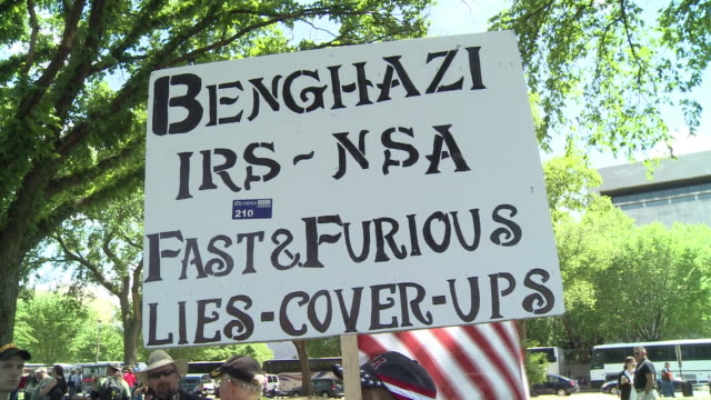 Antigovernment protesters rally for Operation American Spring