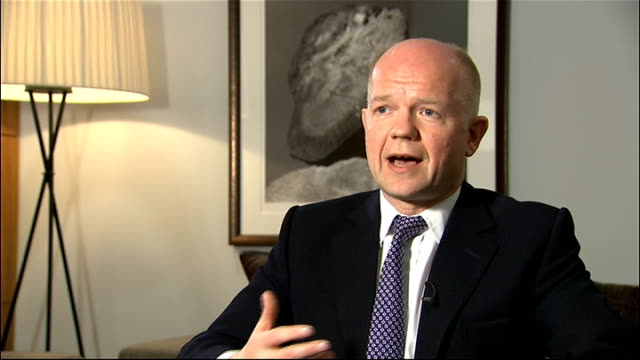 nationwide curfew imposed england william hague mp interview sot argued that egypt should have a more open and democratic system need to move in... - will.i.am stock videos and b-roll footage