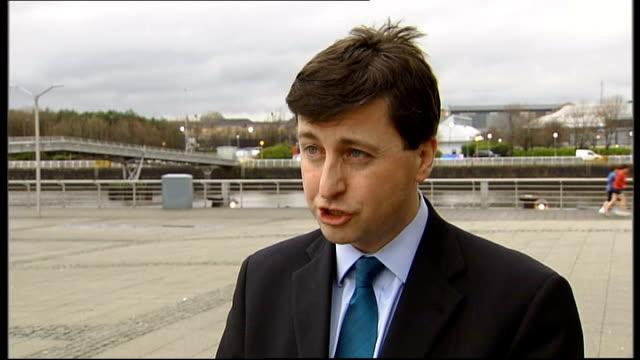 anti-government protests: evacuation of british citizens; scotland: ext douglas alexander mp interview sot - douglas alexander stock videos & royalty-free footage