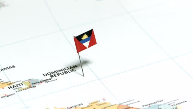 Antigua and Barbuda with National Flag