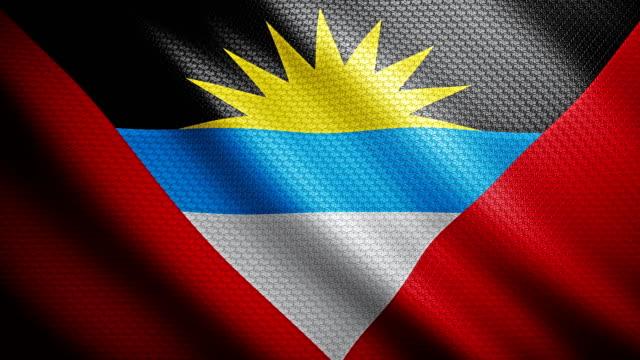 Antigua & Barbuda vlag 4K