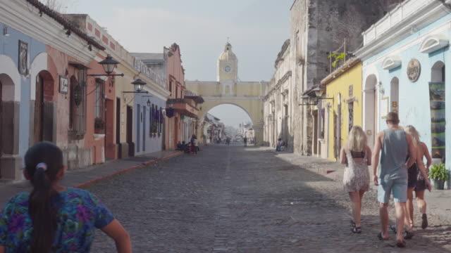 Antigua Guatemala downtown with Santa Catalina archway