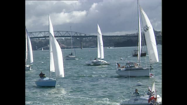Antinuclear protest flotilla departing Auckland for Moruoa Atoll