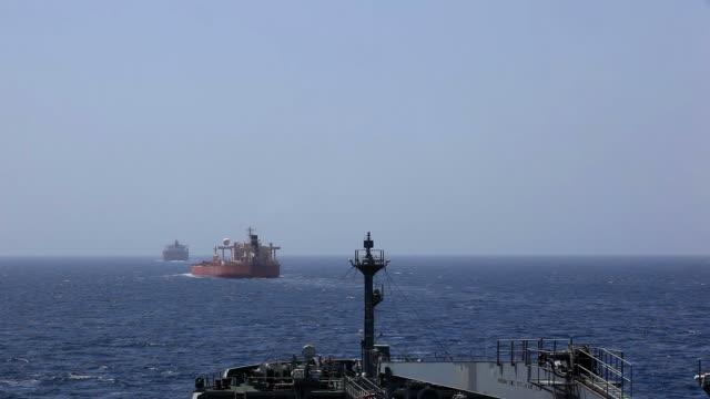 Anti-Piracy ship's  convoy near Somalia