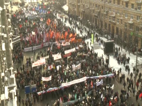 antiputin protest in moscow - 2012 stock videos and b-roll footage