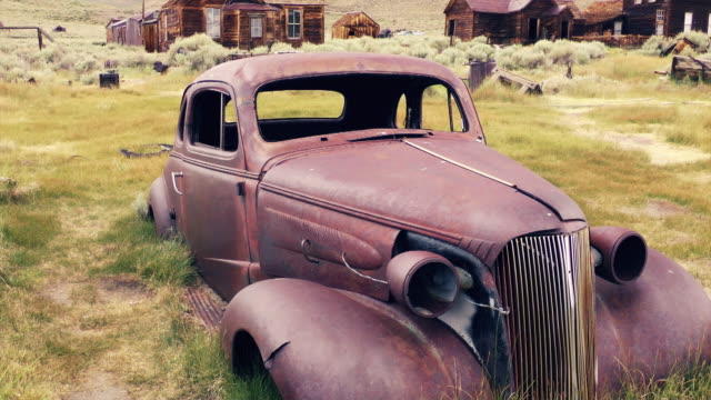antique car in bodie - 1937 stock videos & royalty-free footage