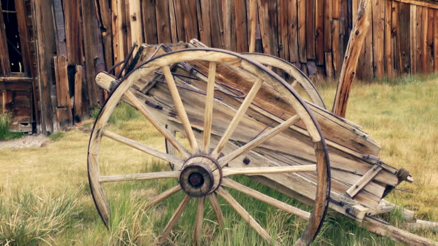 antique cart in bodie - cart stock videos & royalty-free footage