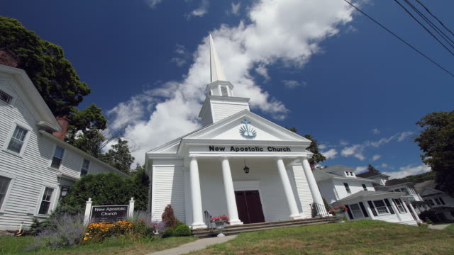 antique church daytime with clouds - steeple stock videos & royalty-free footage