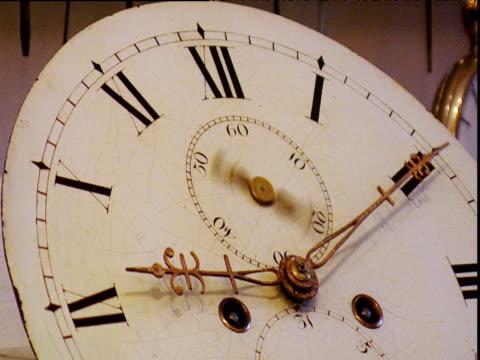 antique clock face hands spinning fast - antik bildbanksvideor och videomaterial från bakom kulisserna