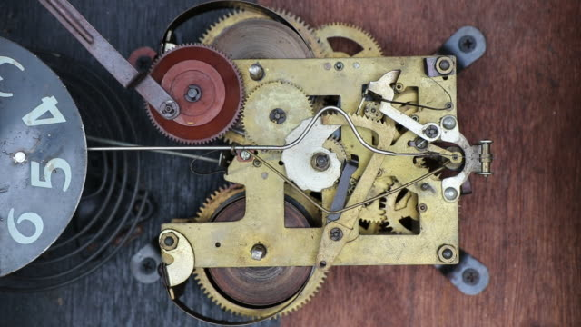 antique clock winding mechanism. - antique stock videos & royalty-free footage