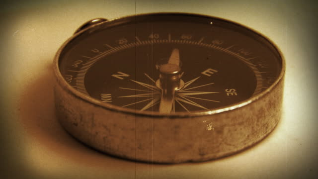 Antique Compass (Old Film) Loop
