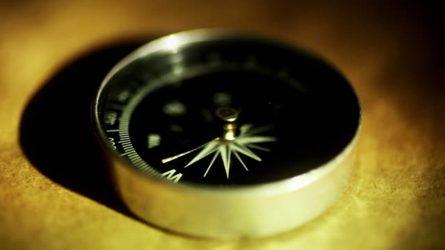 antique compass (macro close-up) - pole stock videos & royalty-free footage