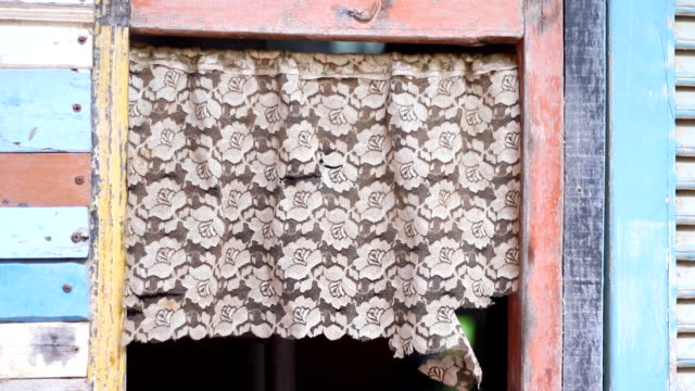 antique lace curtains - lace textile stock videos & royalty-free footage