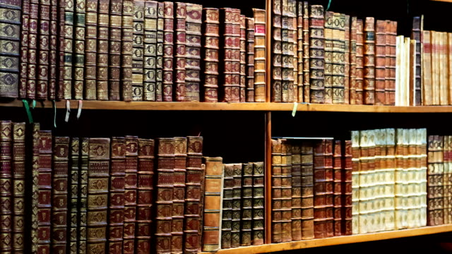 antique library - bookshelf stock videos & royalty-free footage