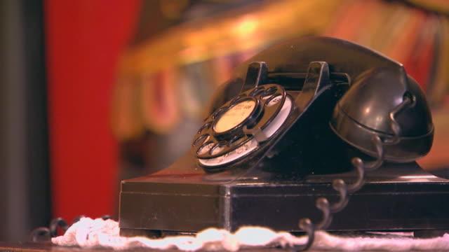 antique phone close up - landline phone stock videos & royalty-free footage