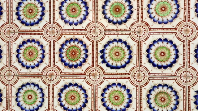 antique shophouse ceramic tile penang malaysia - ornate stock videos and b-roll footage
