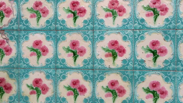 antique shophouse ceramic tile penang malaysia - malacca stock videos and b-roll footage