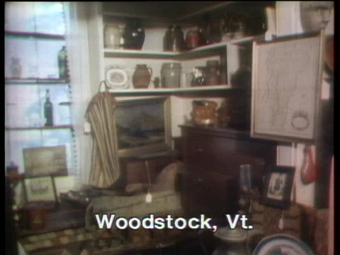 antiques shops abound in vermont. - treasure hunt stock videos & royalty-free footage
