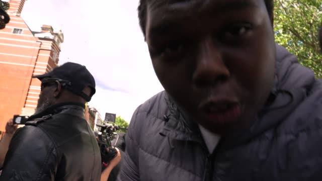 antiracism demonstration protester shouts down the lens on june 13 2020 in london united kingdom following a social media post by the farright... - crying stock videos & royalty-free footage