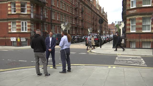 anti-semitic attacks and incidents in london rise 51% on last year; england: london: marylebone: ext alexander menashe and joseph cohen interview as... - cap stock videos & royalty-free footage