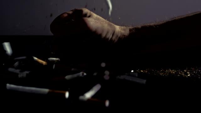 slo mo anti-smoking theme - negatives stock videos & royalty-free footage