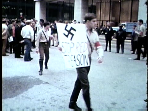 WGN AntiVietnam War Rally Some Protesters Wearing Nazi Uniforms in Chicago in 1969