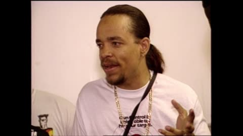 """anti-violence activist mike concepcion and rapper/actor ice-t talk about """"we're all in the same gang"""" album. - producer stock videos & royalty-free footage"""