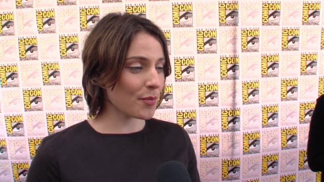 Antje Traue on auditioning and the set at the ComicCon 2009 'Pandorum' Press Line at San Diego CA