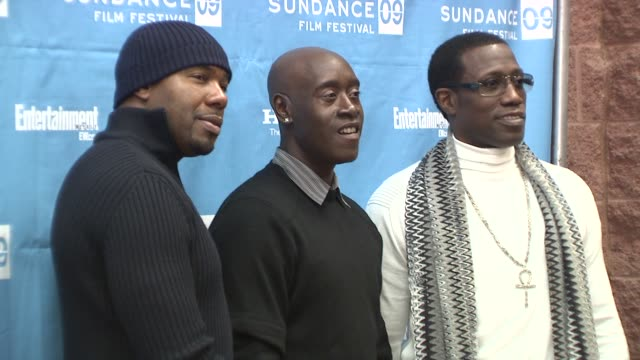 Antoine Fuqua Don Cheadle Wesley Snipes at the 2009 Sundance Film Festival 'Brooklyn's Finest' Premiere at Park City UT